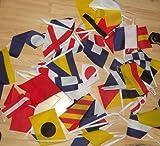 GUIRNALDA 13 metros 40 banderas del CÓDIGO INTERNACIONAL DE SEÑALES NAUTICO 21x15cm - bandera NAUTISMO 15 x 21 cm - banderines - AZ FLAG