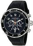 Philip Stein Men's 33-XB-RB Active Black Rubber Strap Watch