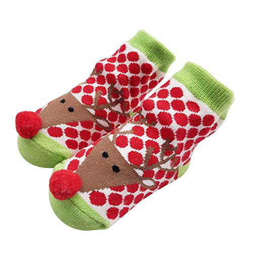 (Sanlutoz Kleinkind Baby Junge Mädchen-Weihnachtssocken Geschenke Sankt Neugeborene Säuglingssocke Halloween (12-24 Monate, SOCKA023))
