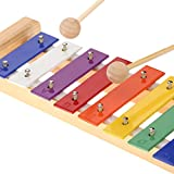 Andoer Bois de pin Xylophone 8-Note 3mm Colorful plaque...