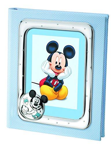 Disney Baby - Album photo Mickey Mouse avec cadre sur la couverture - cadeau pour baptême/anniversaire