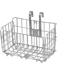 Canasta portátil de bicicletas de alambre Cesta delantera y trasera plegable para ir de compras y perros