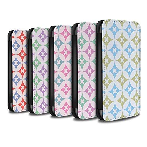 Stuff4 Coque/Etui/Housse Cuir PU Case/Cover pour Apple iPhone X/10 / Bleu/marron Design / Kaléidoscope Collection Multipack