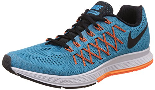 Nike Herren Air Zoom Pegasus 32 Laufschuhe Türkis (Blue Lagoon/Black/Bright Citrus/Total Orange) 44 EU (Nike Zoom Türkis)
