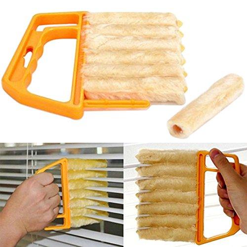 akoak Microfaser Rollo Klinge von Fenster Klimaanlage Duster Clean Pinsel mit 7Lamellen Handgerät Haushalt Küche Reinigung Werkzeug für Markisen, die Seite, Vinyl, Auto, Fan