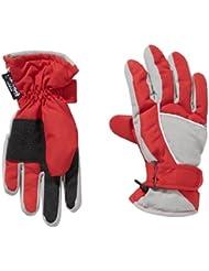 fraenklis Skihandschuhe Thinsulate - Guantes de esquí para niño, color rojo / plateado, talla 4