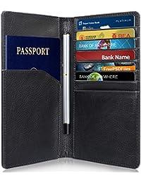 GreatShield RFID NFC Protége Blocage Porte-Passeport Housse + Porte Carte  de Crédit   Portefeuille Organisateur… f5e8b92074a