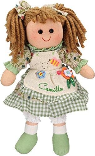 Betz Muñeca de trapo para niños CAMILLA tamaño aprox. 30cm color verde