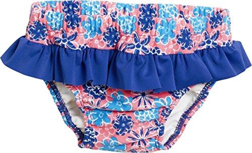 Playshoes Baby Mädchen Schwimmwindel Badewindel Veilchen mit UV-Schutz, Mehrfarbig (Lachs 41), verschiedene Größen