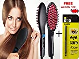 KANHA CERAMIC Professional Simply Electric Hair Straightener Comb/Brush with LCD Screen with Temperature Control display for women Combo with Kajal