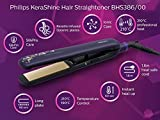 Philips BHS386 Kera Shine Straightener (Purple)