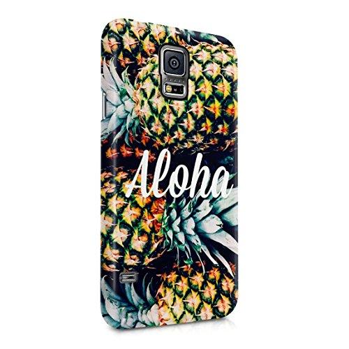 Aloha Tropical Pineapple Pattern Dünne Rückschale aus Hartplastik für Samsung Galaxy S5 Handy Hülle Schutzhülle Slim Fit Case cover (Aloha-snap)