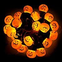 Halloween Pumpkin String Lights, Halloween Ghost Sunny Doll LED Fairy Lights