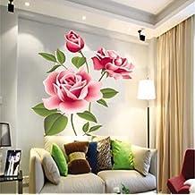 ourbest extraíble pared vinilo adhesivo Arte Rosa Flor DIY Decoración para el hogar