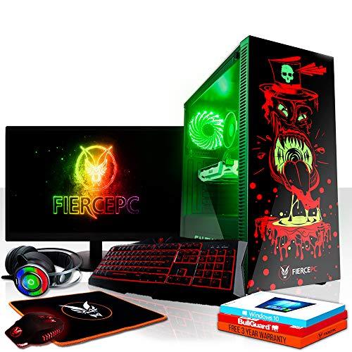 Fierce Avenger High-End RGB Gaming PC Bundeln: 4.3GHz 6-Core Intel Core i5 8600, 1TB SSHD, 16GB, RTX 2070 8GB, Win 10, Tastatur (QWERTZ), Maus, 24-Zoll-Monitor, Headset 1087934