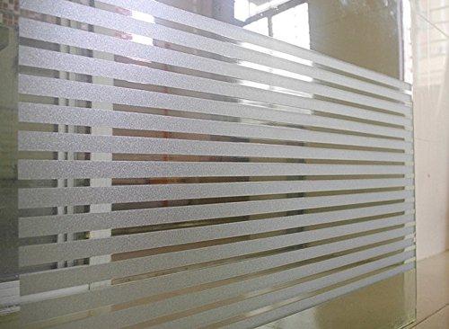 Premium 2D Statische Dekorative Sichtschutz Fenster Filme (kein Klebstoff und selbstklebend), (45x 100cm) (Streifen) The price of rice per long wide 120cm/ (Dampf-streifen)