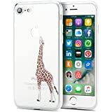 Coque iPhone 7,EnGive Ultra-mince Coque Housse Etui de protection en TPU Pour iPhone 7 (Girafe)
