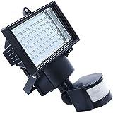Apgstore 60 LED solar de movimiento PIR seguridad del sensor del reflector de la lámpara de la luz del jardín al aire libre