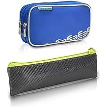 Pack bolsa isotérmica Dia's en color azul y estuche Insulin's en color gris y lima | Elite Bags | Kit de 2 tamaños: 1 bolsa grande + 1 estuche pequeño | Lote ahorro