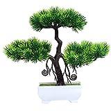 Künstliche Topfpflanze Bonsai künstliche Pflanze Simulation willkommen Kiefer Bonsai Hause Kunststoff Tischplatte Dekoration Innendekoration Grünpflanze Topf Dekoration Garten Hof im Freien indoor