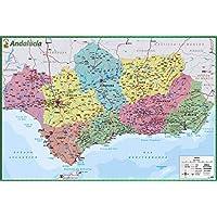 Erik Editores Poster Mapa De Andalucia