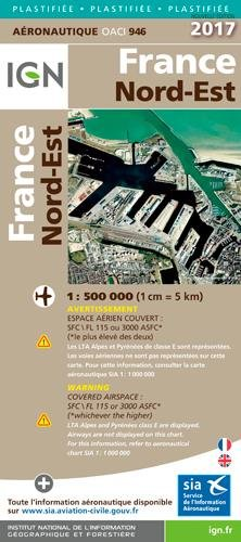 Oaci946 France Nord-Est Plastifiee 2017 1/500.000