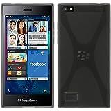 PhoneNatic Case kompatibel mit BlackBerry Leap - grau Silikon Hülle X-Style + 2 Schutzfolien