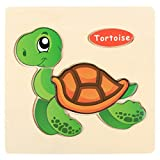 Sonnena Holzpuzzles, Komisch Holzspielzeug Karikatur Tierpuzzle Spielzeug Puzzle aus Holz Spielzeug Lernspielzeug Pädagogische Kinderspielzeug für Kinder ab 1-5 Jahre Alt (1)