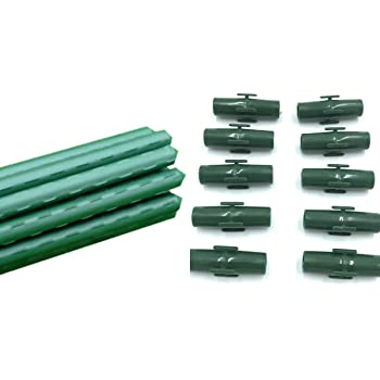 50Pcs Garden Trellis Plant Stake Connector clip pole joiner Connecting pipe