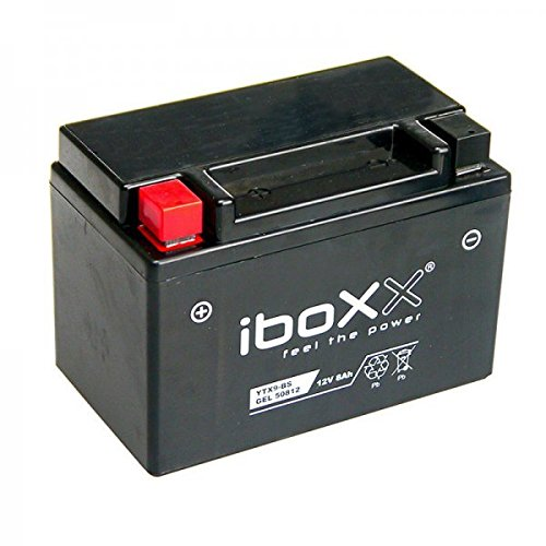 Iboxx Motorrad Gel Batterie / Gelbatterie YTX9-BS, 12 Volt, 8 Ah für Kawasaki ZX-6R 600 R Ninja, GF, ZX600R, Bj. 2016