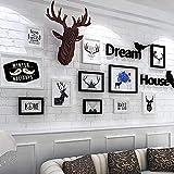 PLYY Foto Wand Frame Sammlung 11 Stücke Bilderrahmen mit DIY Home Wall Dekoration Geschenk Wand Aufkleber Bild Wand Aufkleber Zimmer Art Dekoration Fotorahmen, Black and White