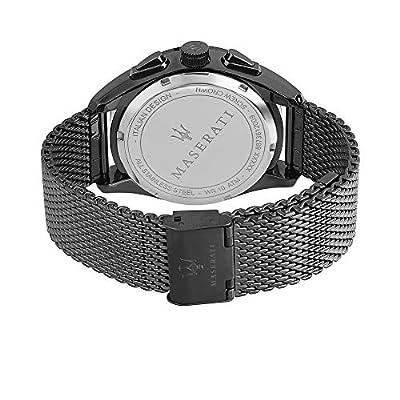 Reloj para Hombre, Colección Traguardo, con Movimiento de Cuarzo y función cronógrafo, en Acero y pvd Gris - R8873612009 de Maserati