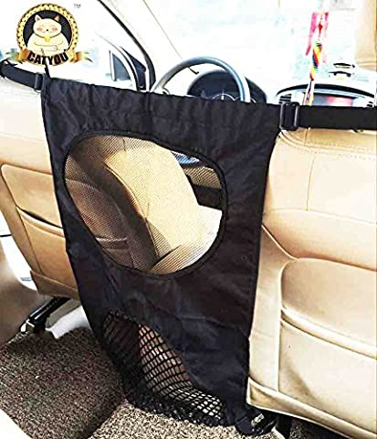 catyou Barrières pour animaux domestiques de voiture avec maille 43,2cm W x 68,6cm H, voiture Siège arrière pour chien Barrière–Une Taille Adapte Tous