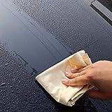 SGerste - Toalla absorbente de gamuza para limpieza de coche, 75 x 45 cm, piel de gamuza natural