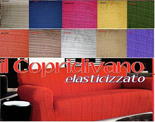 Copridivano misura 5 posti cotone elastico per divani da 2 - Copridivano angolare elasticizzato ...