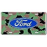 Ford Logo Camouflage Placa el coche Alu Alu plano Nuevo 15x30cm VS4137-1