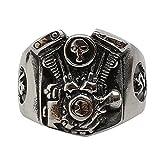Taizhiwei Moda accessori ring acciaio al titanio motore gioielli anello uomo