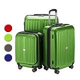 HAUPTSTADTKOFFER® 3er Kofferset (126 Liter, 90 Liter, 42 Liter) · Hartschalenkoffer · XBERG HK-8280 · TSA Schloss · in verschiedenen Farben