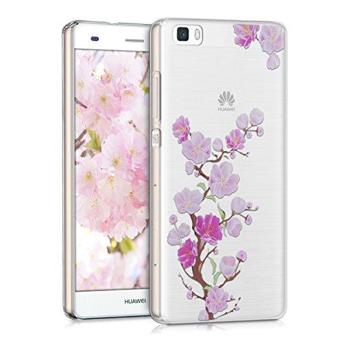 kwmobile-custodia-tpu-silicone-crystal-per-huawei-p8-lite-colore-fucsia-rosa-trasparente-design-ramo