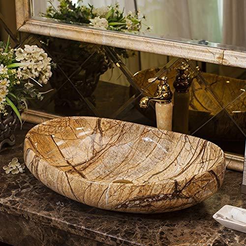 QWERTY Home Zuhause,Keramik Waschtisch Waschbecken,Geeignet for Hotel Bad Familie,Waschbecken Kunst über dem Aufsatzbecken (Color : Single Basin)