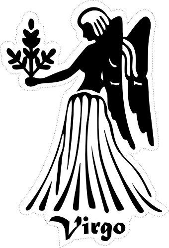 Selbstklebend Wandtattoo Sternzeichen Tierkreiszeichen Virgo Jungfrau schwarz weiß Horoskop