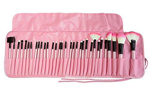 Tammy style Pinselsets Make-up Pinsel Set 32 Stück Rosa Kosmetik Bürsten mit Pouch Haar-zauberstab 1 1 2 Zoll