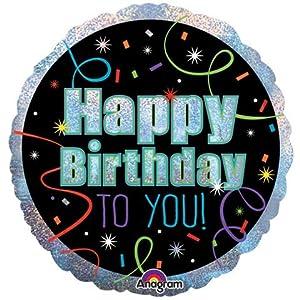 Amscan-3211501brillante feliz cumpleaños Foil Globos