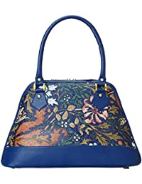 Generic Women's Casual Floweral Print Shoulder Bag Or Handbag (Blue)