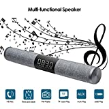Ydq Bluetooth Lautsprecher Wireless Bluetooth 4.2 High Power Unterstützung TF-Karte Spielzeit 6 Stunden Stereo-Subwoofer Eingebaute Lithium-Batterie Alarm Sound Blaster LED-Bildschirm