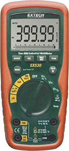 Extech Multimeter (Extech EX530Multimeter Tragbar Digital Wasserdicht (IP67) Cat III 1000V, CAT IV 600V Anzeige (Counts): 40000)