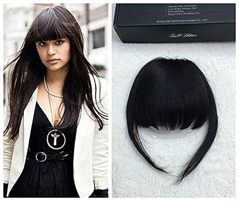 Cheveux Naturel - Full Shine 100% Franges Vrais Cheveux Humains