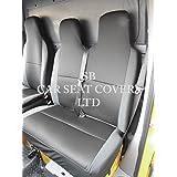 Ford Transit Custom Van 2014–2016Fundas de asiento Rossini Negro Malla deportiva -1Individual + 1Doble