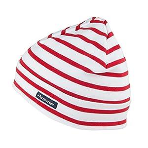 Armor Lux Treguier gestreifte Beanie Mütze aus Baumwolle – Weiß