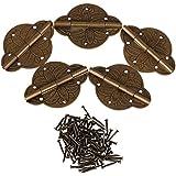 bqlzr 4,3x 3,1cm couleur bronze style C Charnière pour meubles en laiton antique cyf230Surface Charnière Lot de 4